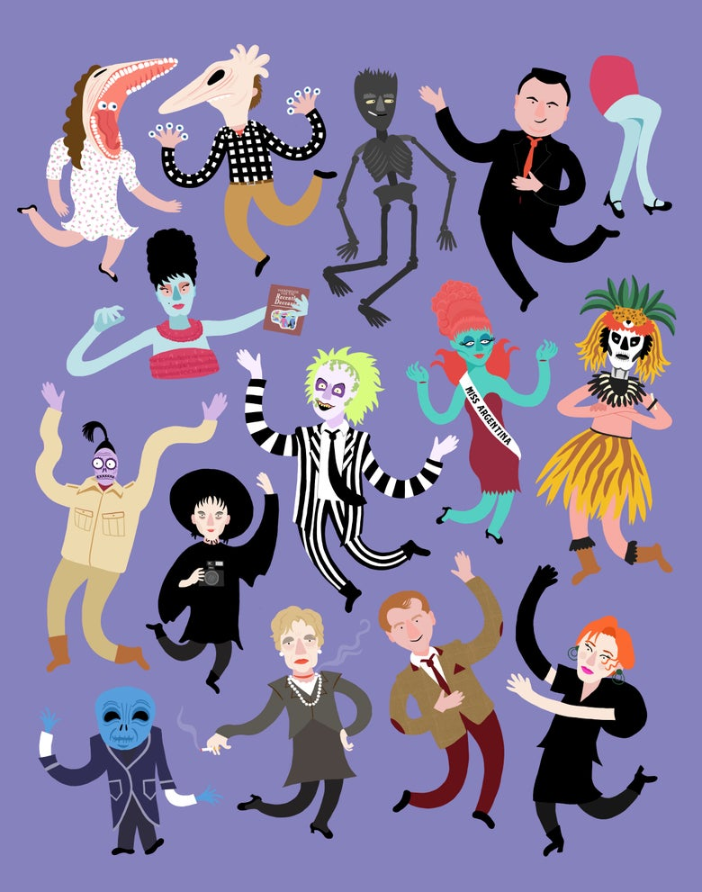 Image of Beetlejuice Art Print