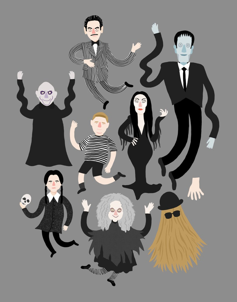 Image of Addams Family Art Print