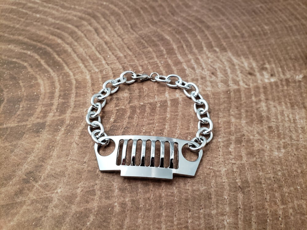 Image of Sterling Silver Jeep Grill Bracelet
