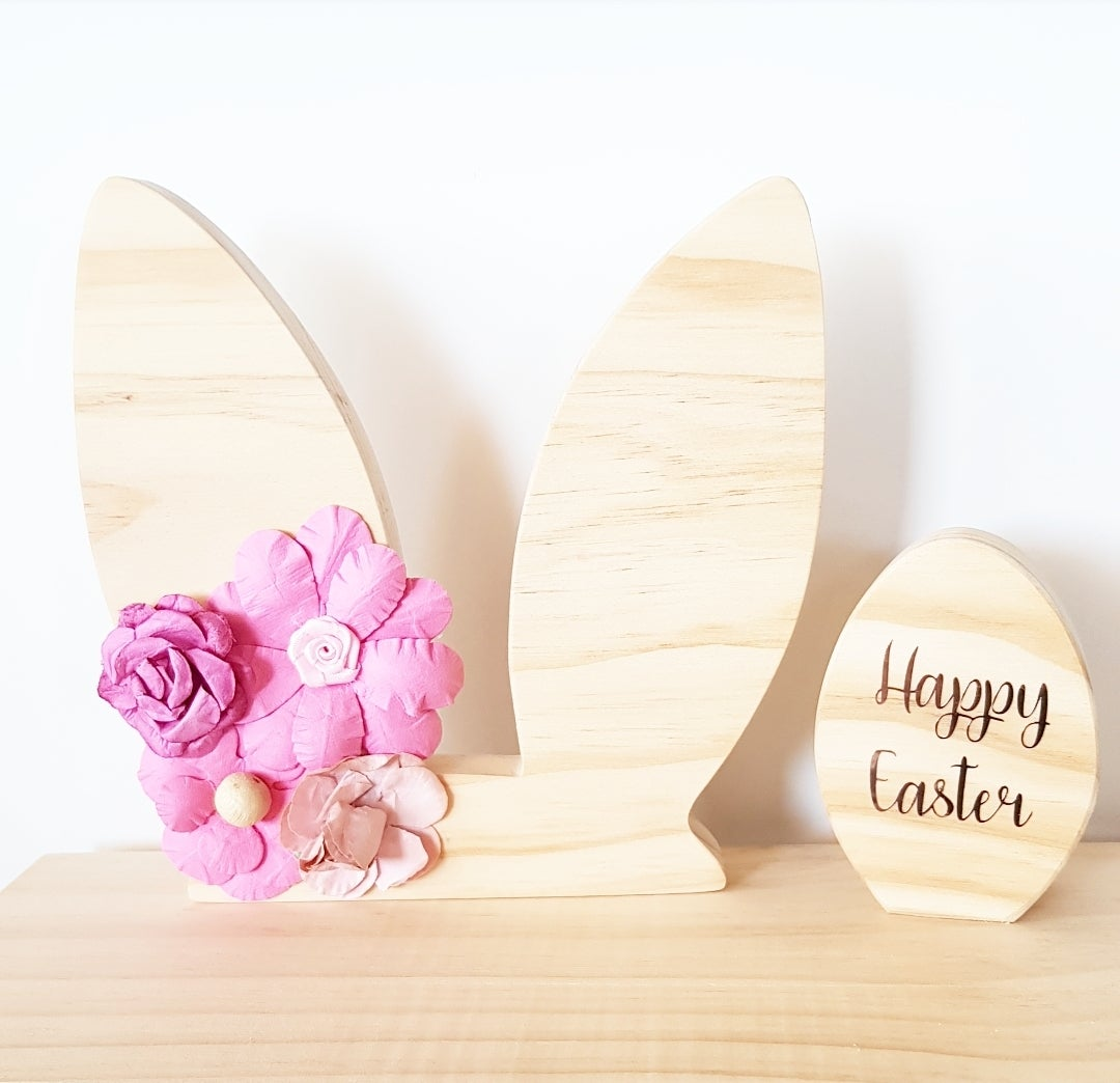 Image of Easter Bunny Ears and Egg Decal Set