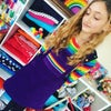 Purple Rainbow Stripe Pocket Pinafore Dress