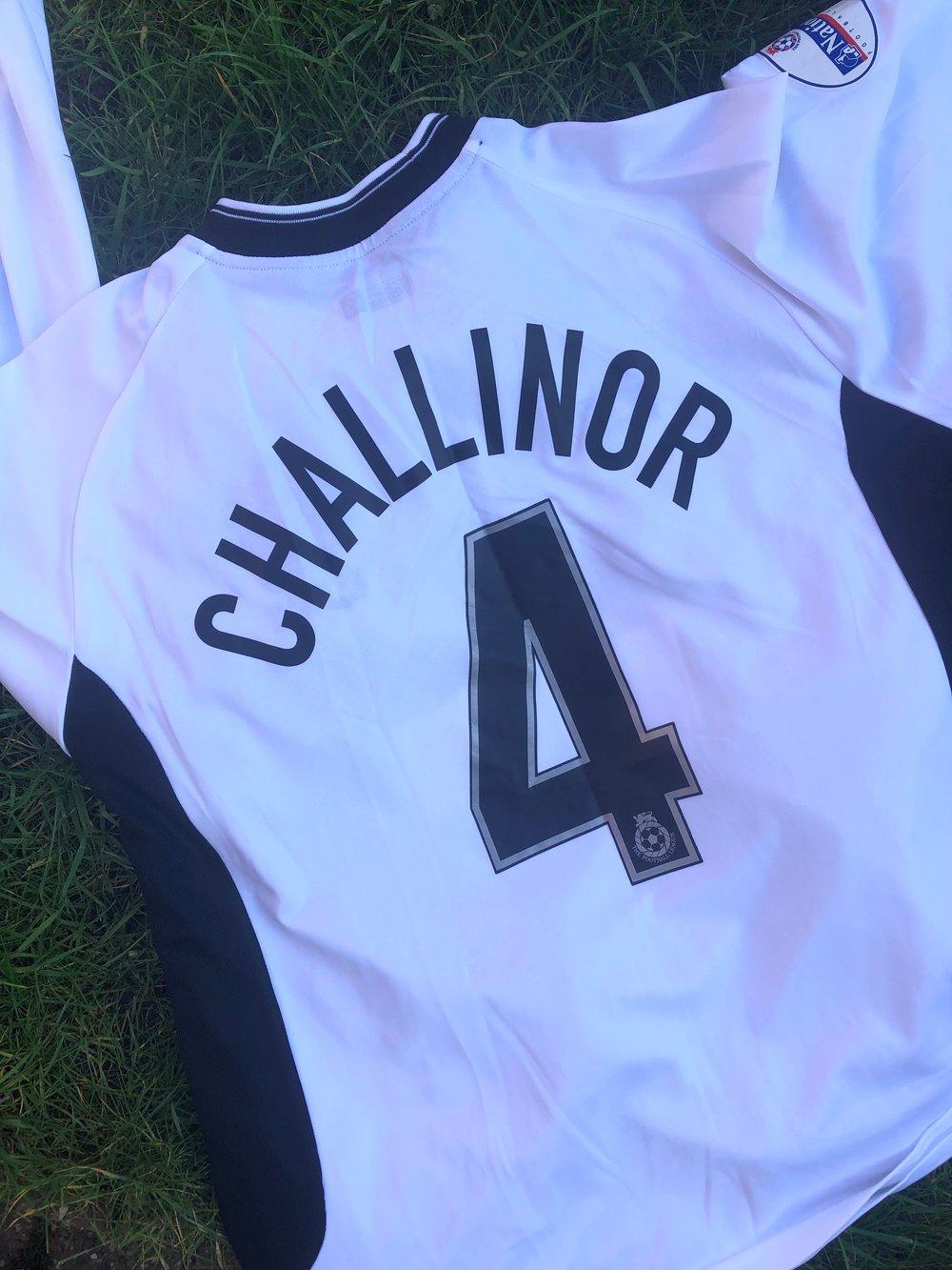 Match worn 2002/03 Dave Challinor away shirt