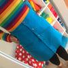 Blue Rainbow Pocket Button Up Skirt