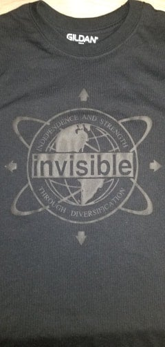 Image of Invisible Records Circle Logo Shirt