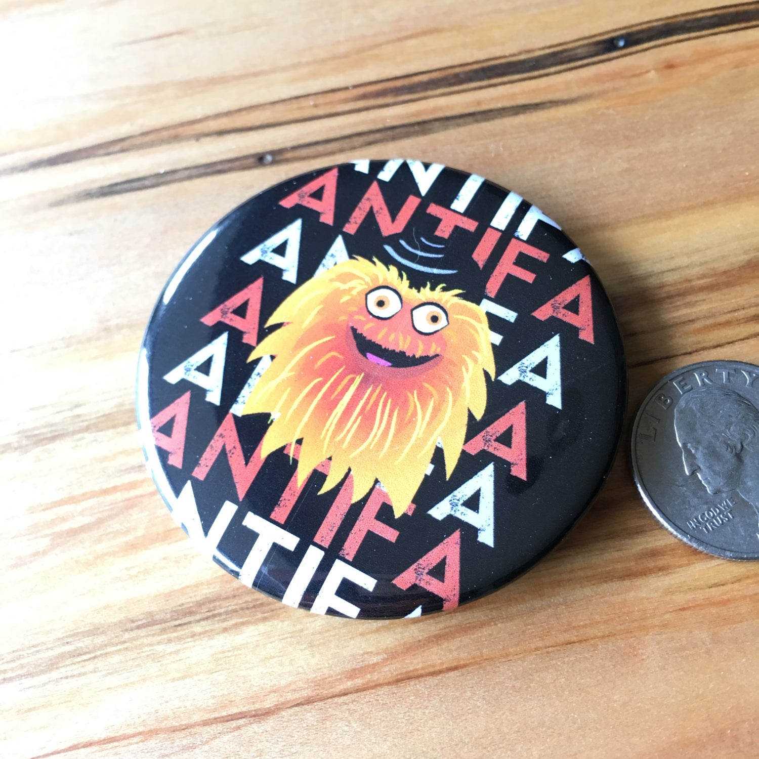 "Image of Gritty Antifa 2.5"" button"