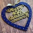 Image 2 of Lasercut Birthday/Anniversary Heart