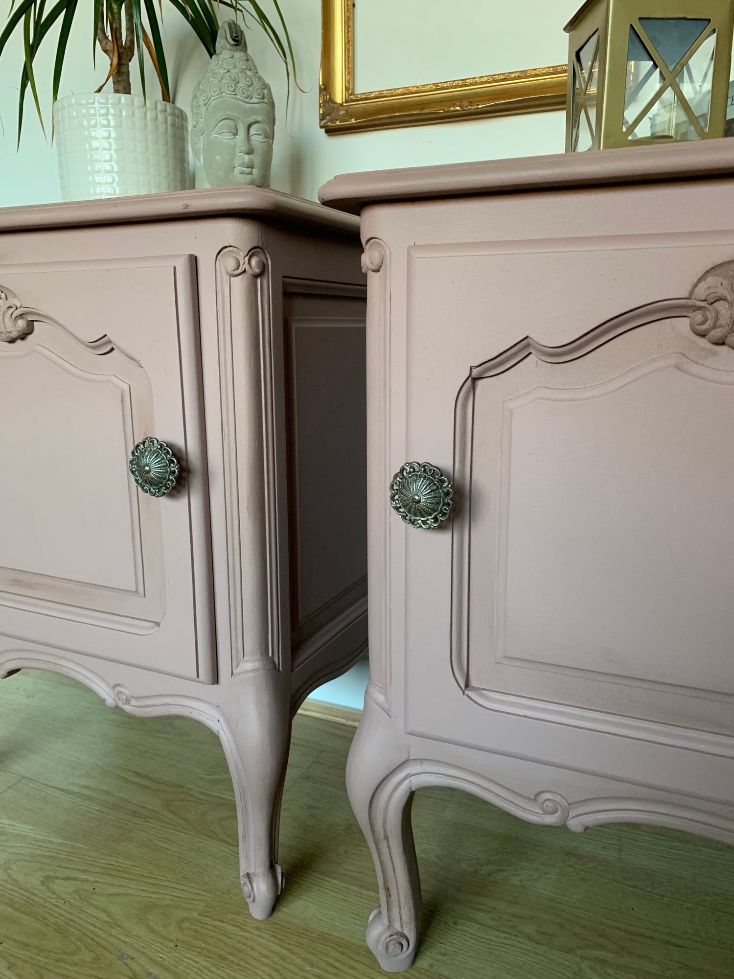 Image of A pair of beautiful French beautiful bedside tables