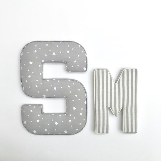 Image of Large fabric letter