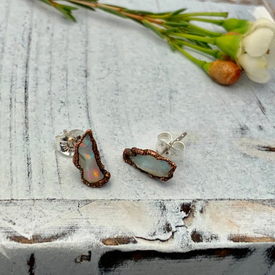 Image of Copper Opal Studs