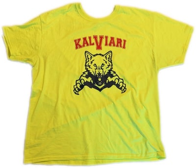Image of KALVIARI PROWLER TSHIRT (FROZEN YELLOW)