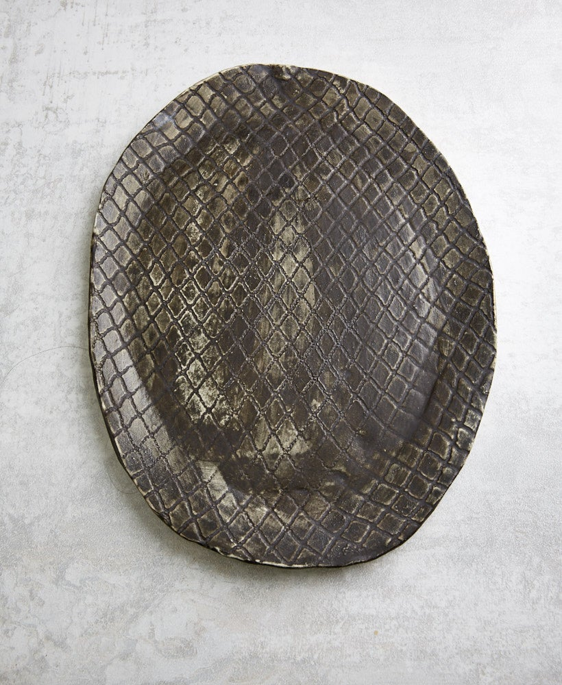Image of Large Rustic Iron Grid Platter