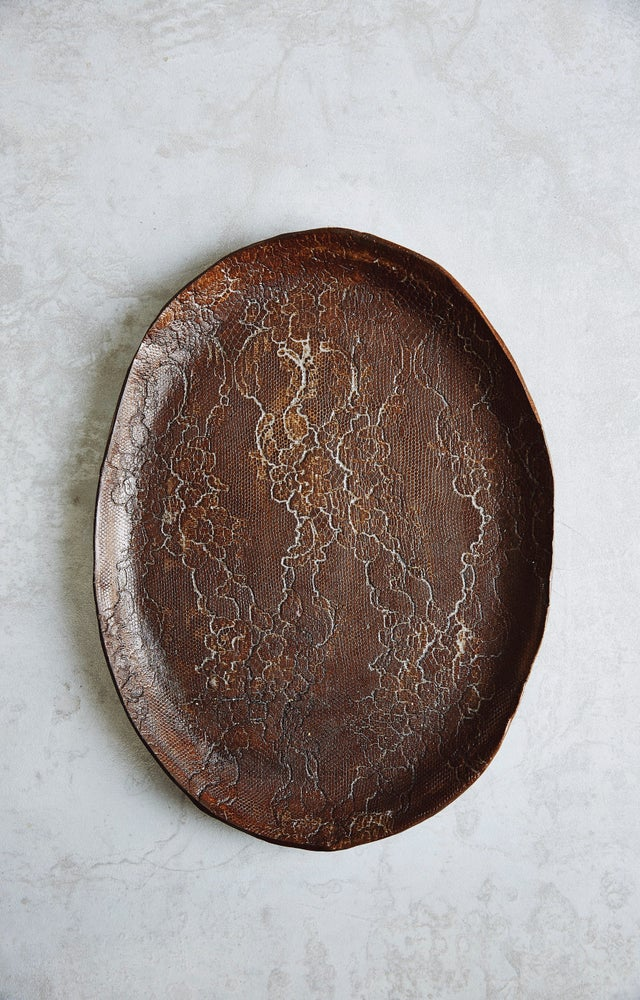 Image of Chocolate Lace Platter  (back-order)