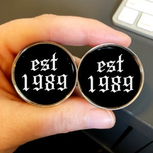 "Image of Est Year Plugs (sizes 2g-2"")"