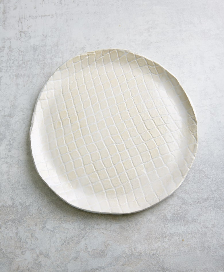 Image of White Textured Plate (back-order)