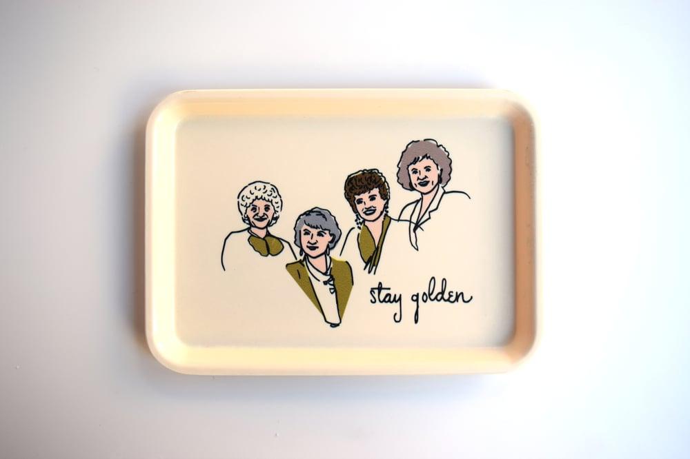 Image of golden girls tray