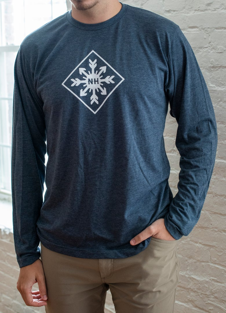Image of Unisex Diamond Snowflake - Long sleeve