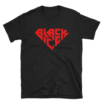 Image of Black Ice Unisex T-Shirt (Blk/Red)