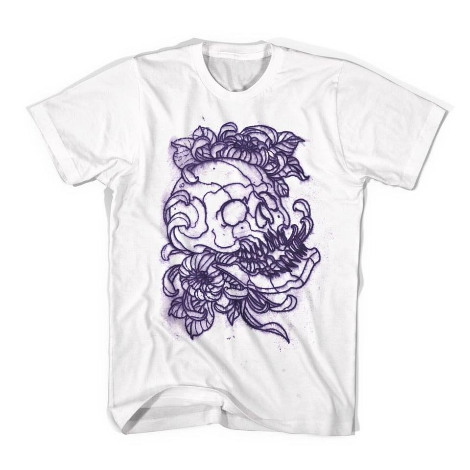 Image of T-shirt stencil skull