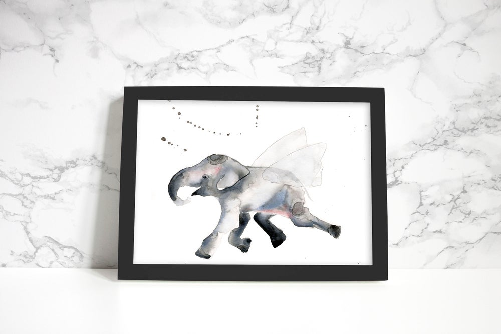 Image of The flying elephant - Poster print
