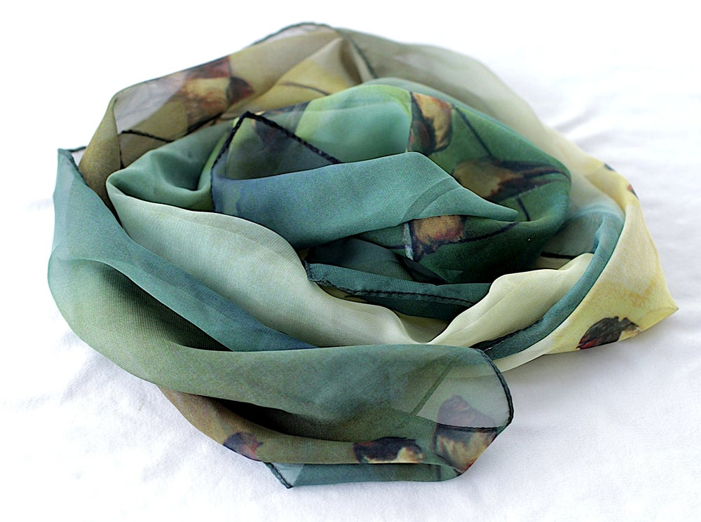 Image of Lily Greenwood Narrow Scarf - Swallows