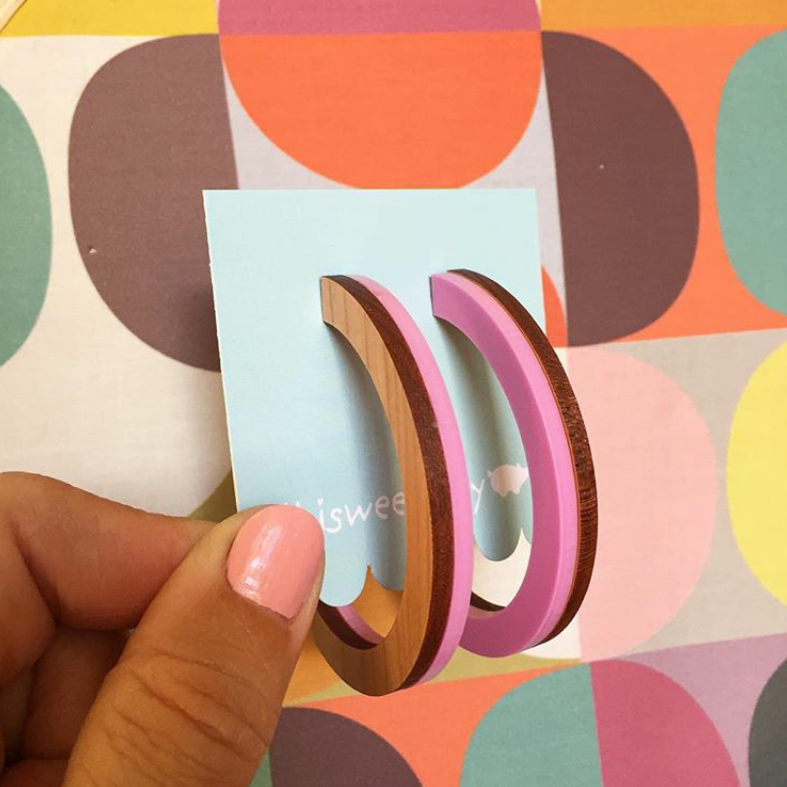 Image of Two toned open hoops