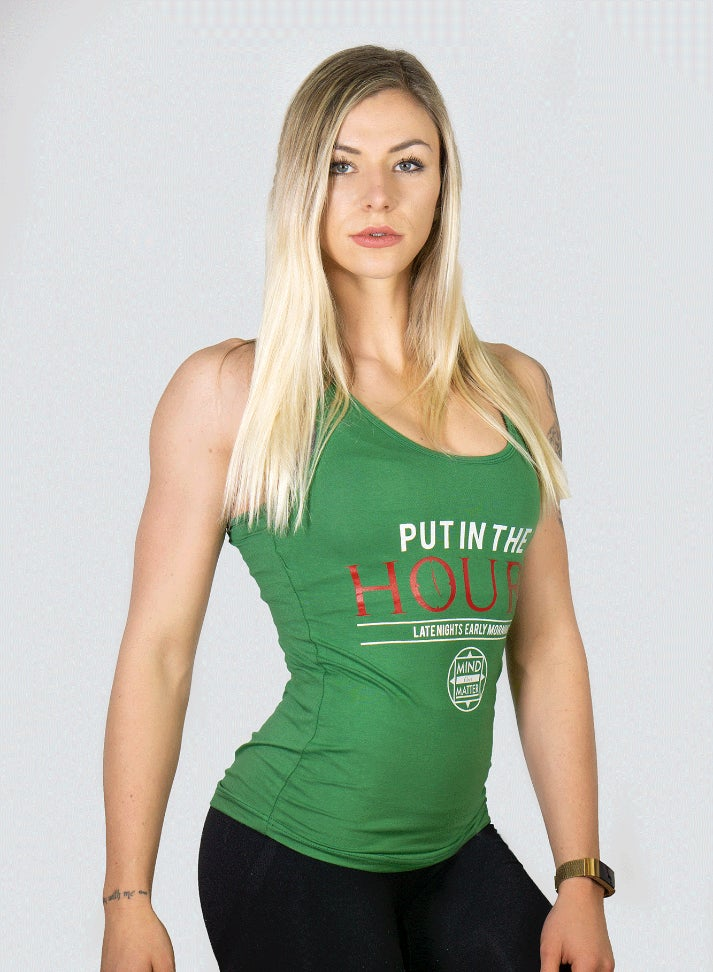 Image of PUT IN THE HOURS WOMAN TANKTOP | GREEN