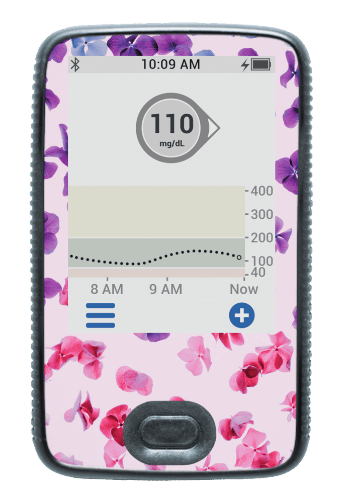 Image of Hydrangea Dexcom G6 Receiver Screen Protector