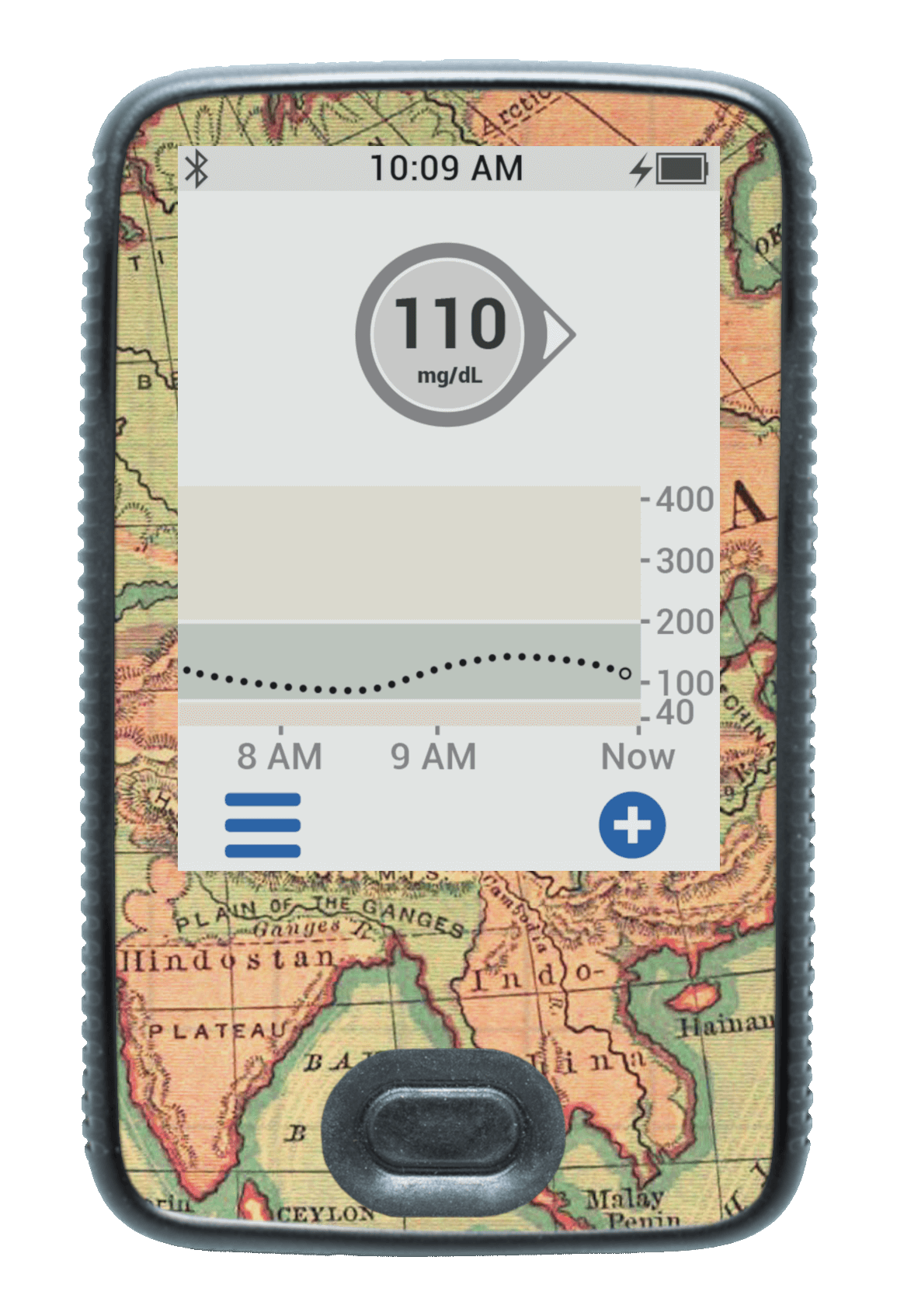 Image of Vintage Map Dexcom G6 Receiver Screen Protector
