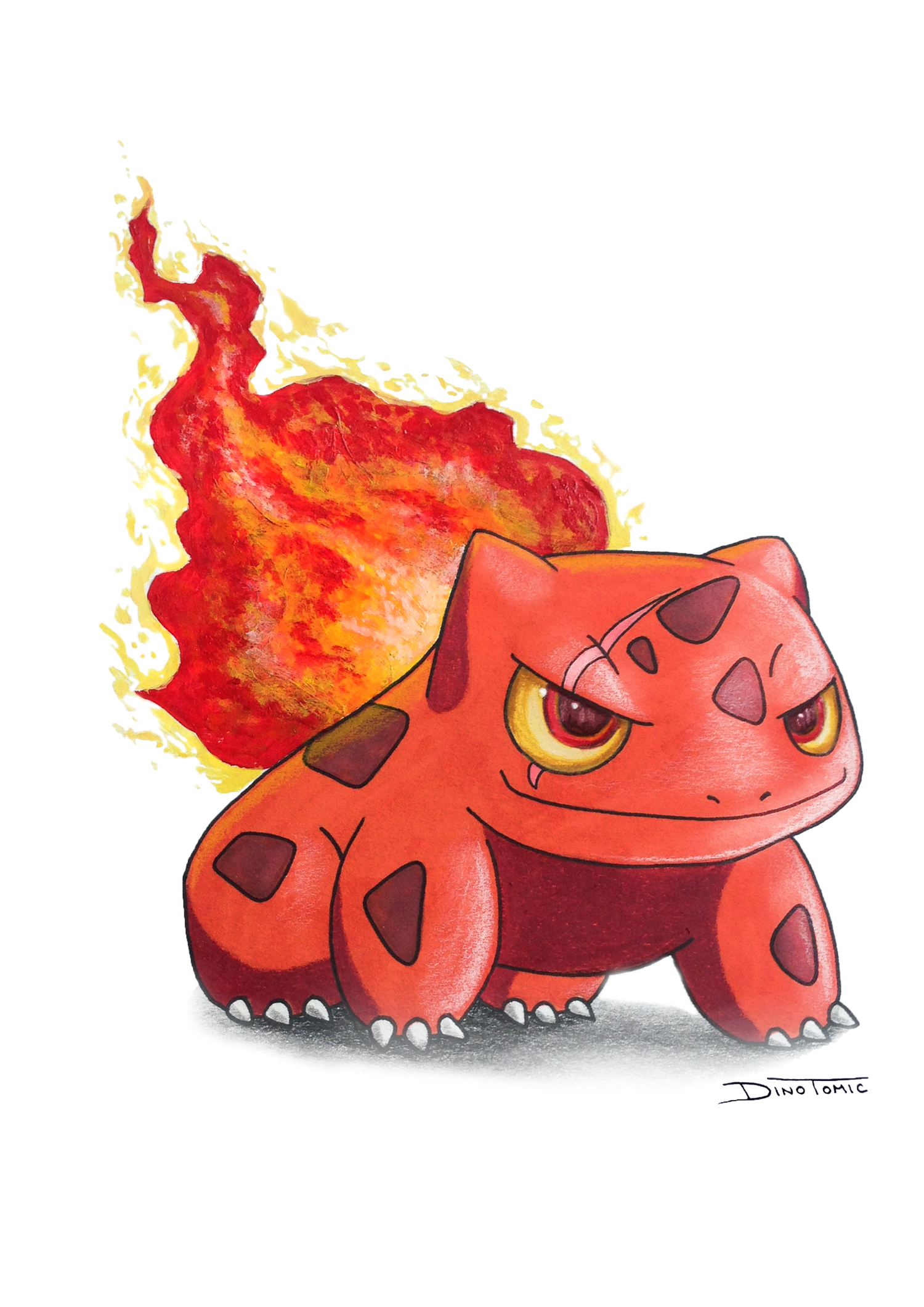 Image of #35 Fire Bulbasaur