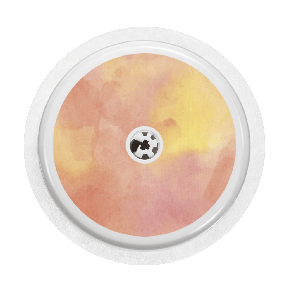 Image of Watercolor orange Freestyle Libre Sticker