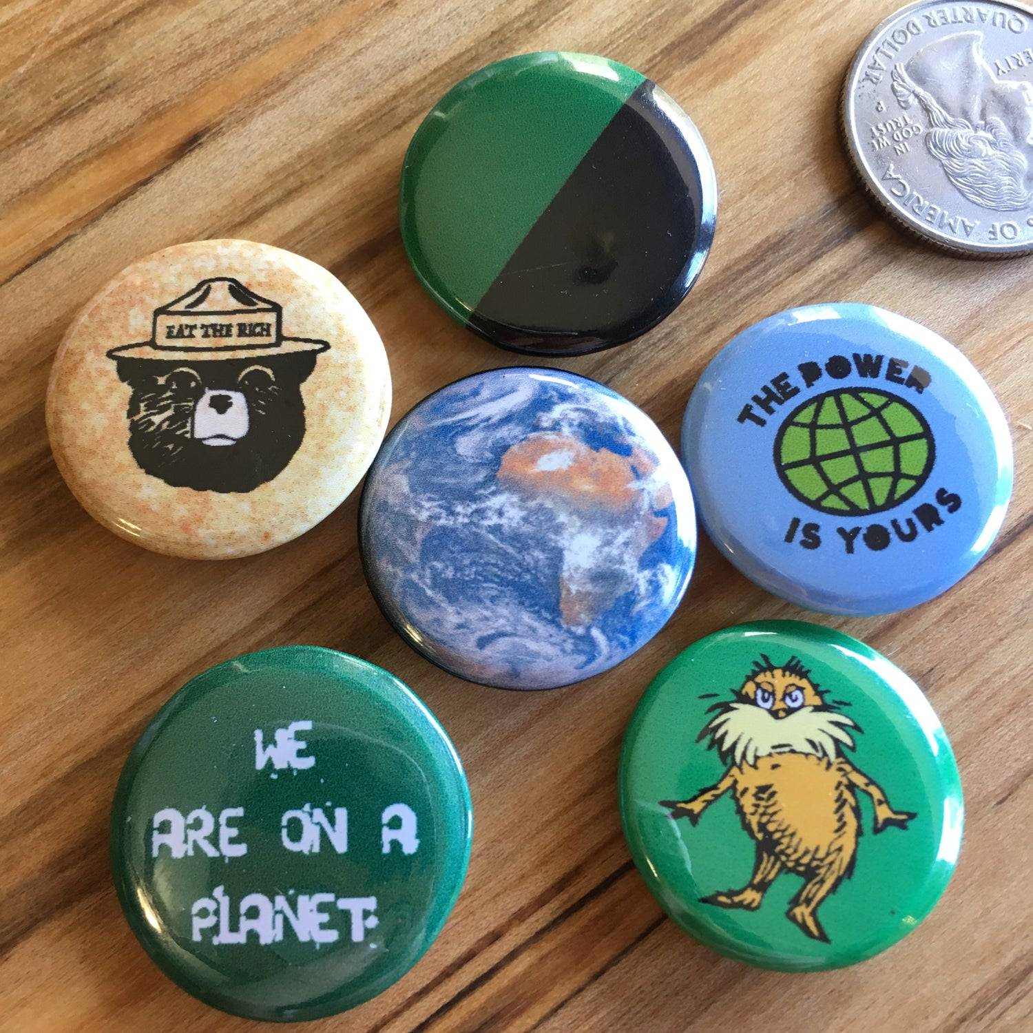 Image of Green Anarchist Pin Pack