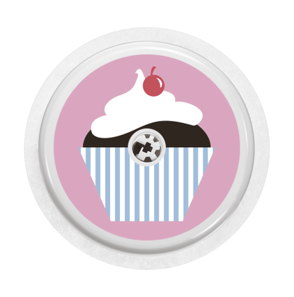 Image of Cupcake pink Freestyle Libre Sticker
