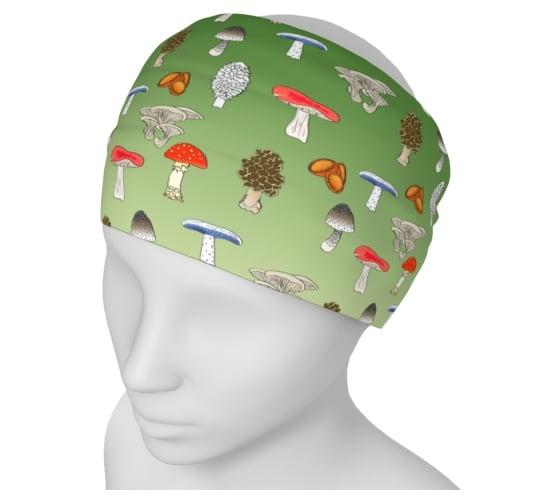 Image of Mushroom Yoga Headband