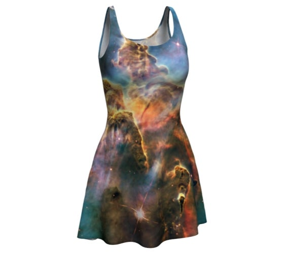 Image of Carina nebula skater dress