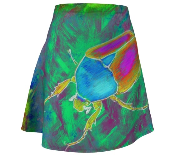 Image of Flower beetle skater skirt