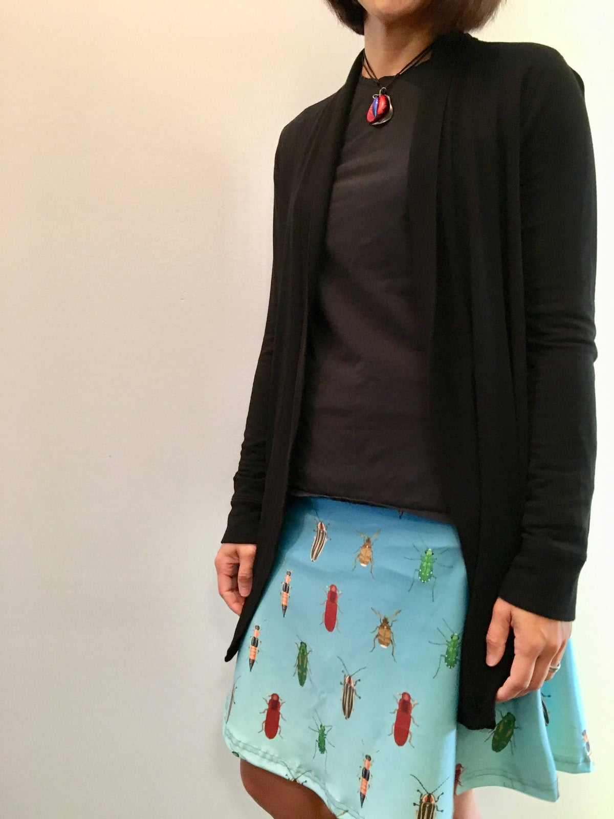 Image of Ombre beetle skater skirt
