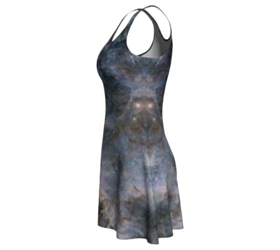 Image of Pale purple nebula skater dress