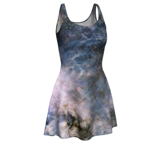 Image of Pale purple nebula skater dress