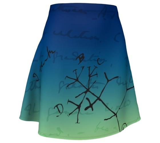 Image of Darwin tree of life drawing skater skirt