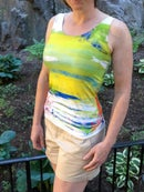 Image 2 of Abstract workout tank top