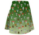 Image 1 of Ombre forest mushroom skater skirt