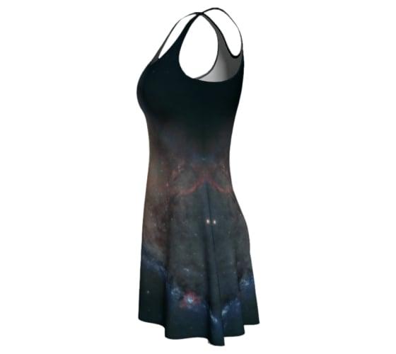 Image of M106 spiral galaxy skater dress