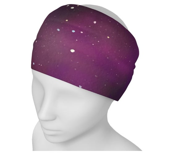 Image of Purple galaxy yoga headband