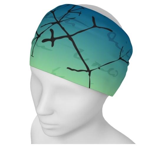 Image of Darwin tree of life yoga headband