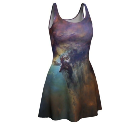 Image of Colourful nebula skater dress