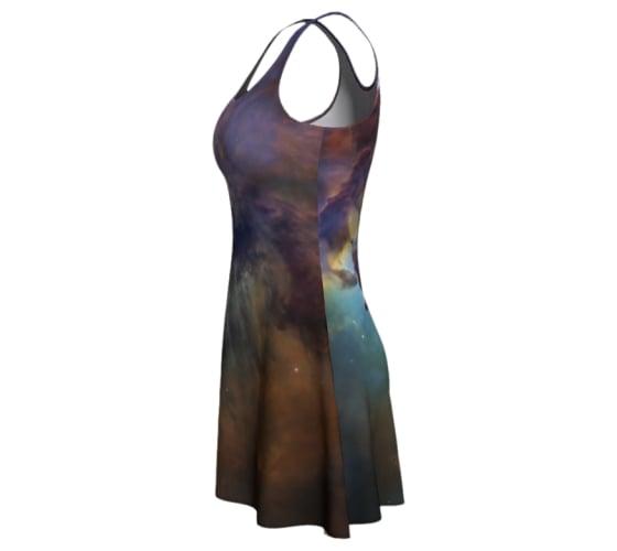 Image of Colourful nebula skater dress