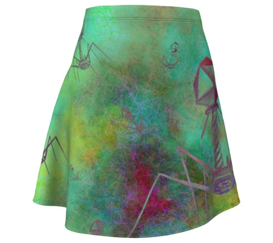 Image of Bacteriophage Invasion stretchy flare skirt