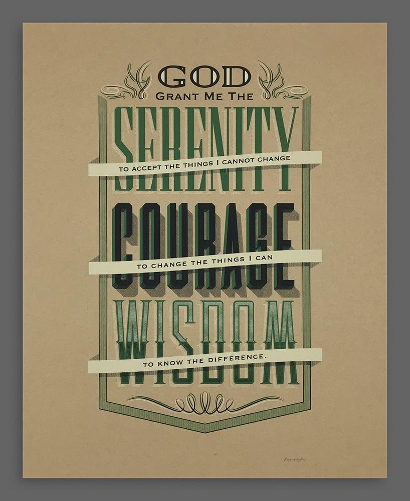 Image of Serenity Prayer Silkscreen Print
