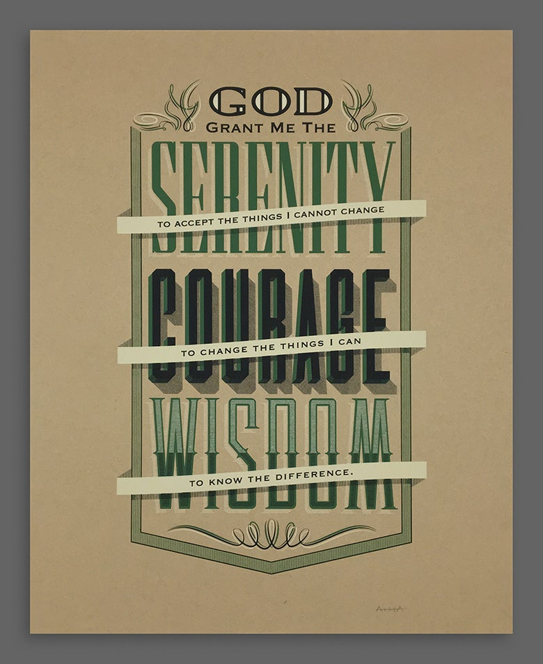 Image of Serenity Prayer Silkscreen Print