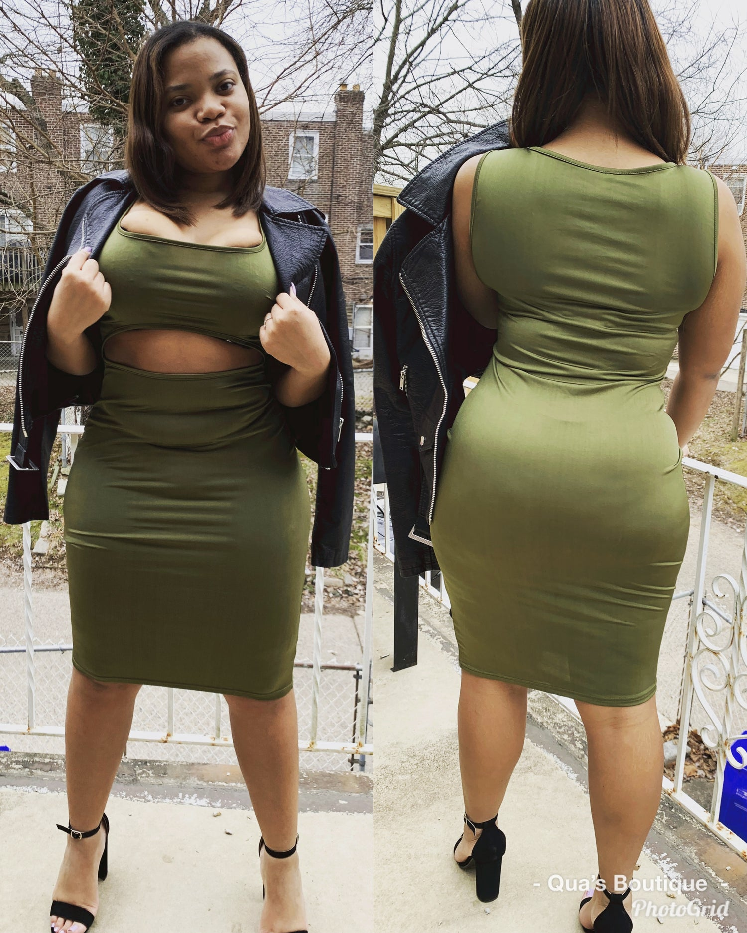 Image of Kimmy Open front bodycon dress